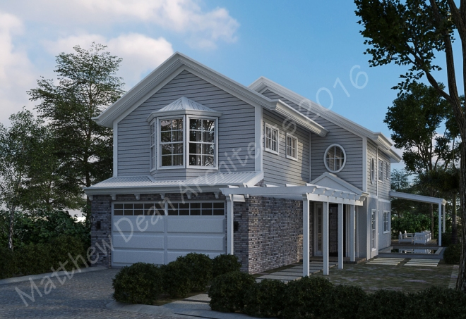 a hamptons style house in kingscliff architect designed